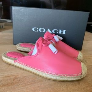 NWT Coach Cassidy Leather  Espadrille Sandals